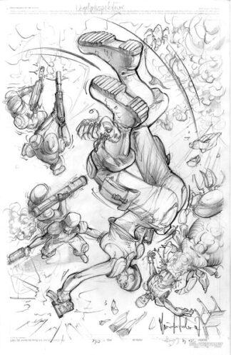 Originalzeichnung Blue Evolution Larp 1 - Marian Kretschmer - Seite 4