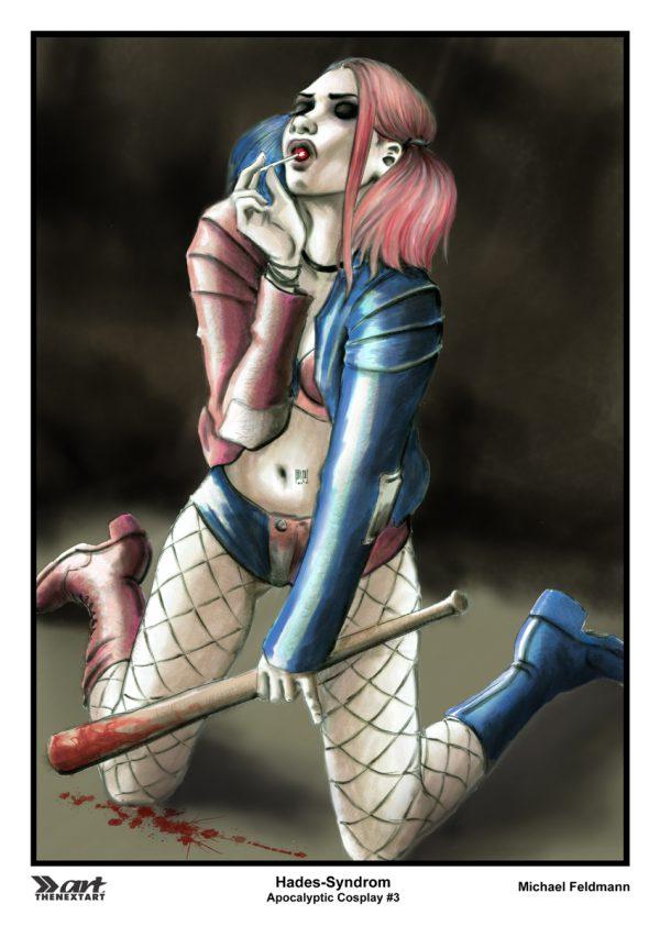Michael Feldmann A4 Druck Apocalyptic Cosplay 3 Harley Quinn