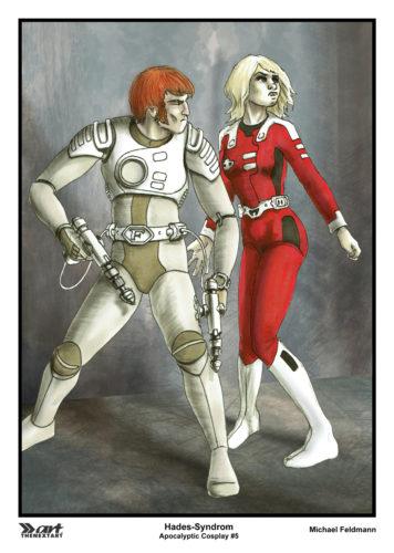 Michael Feldmann A4 Druck Apocalyptic Cosplay 5 Captain Future und Joan Landor