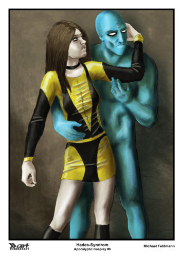 Michael Feldmann A4 Druck Apocalyptic Cosplay 6 Silk Spectre und Dr Manhattan