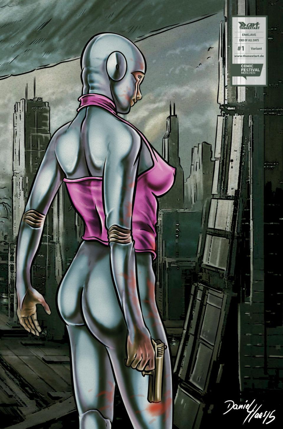 Sascha Dörp Comic Cabin Enklave - End of all Days 1 Variant Cover Daniel Haas
