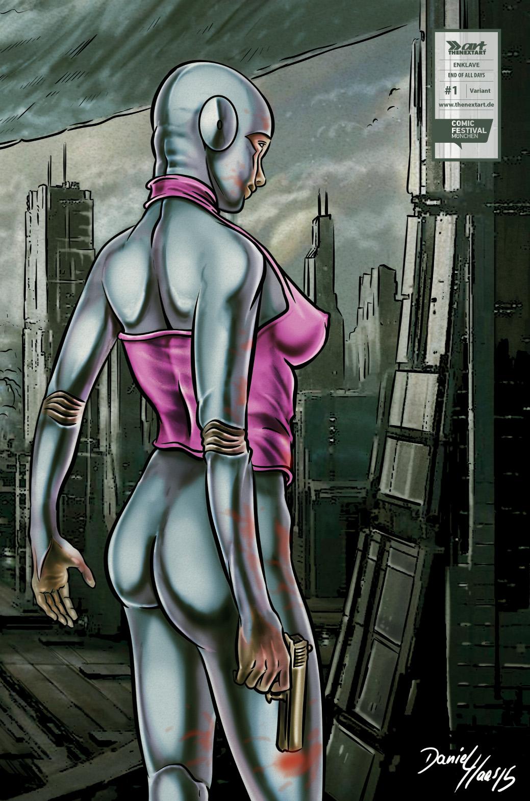 Sascha Dörp Comic Cabin Enklave – End of all Days 1 Variant Cover Daniel Haas
