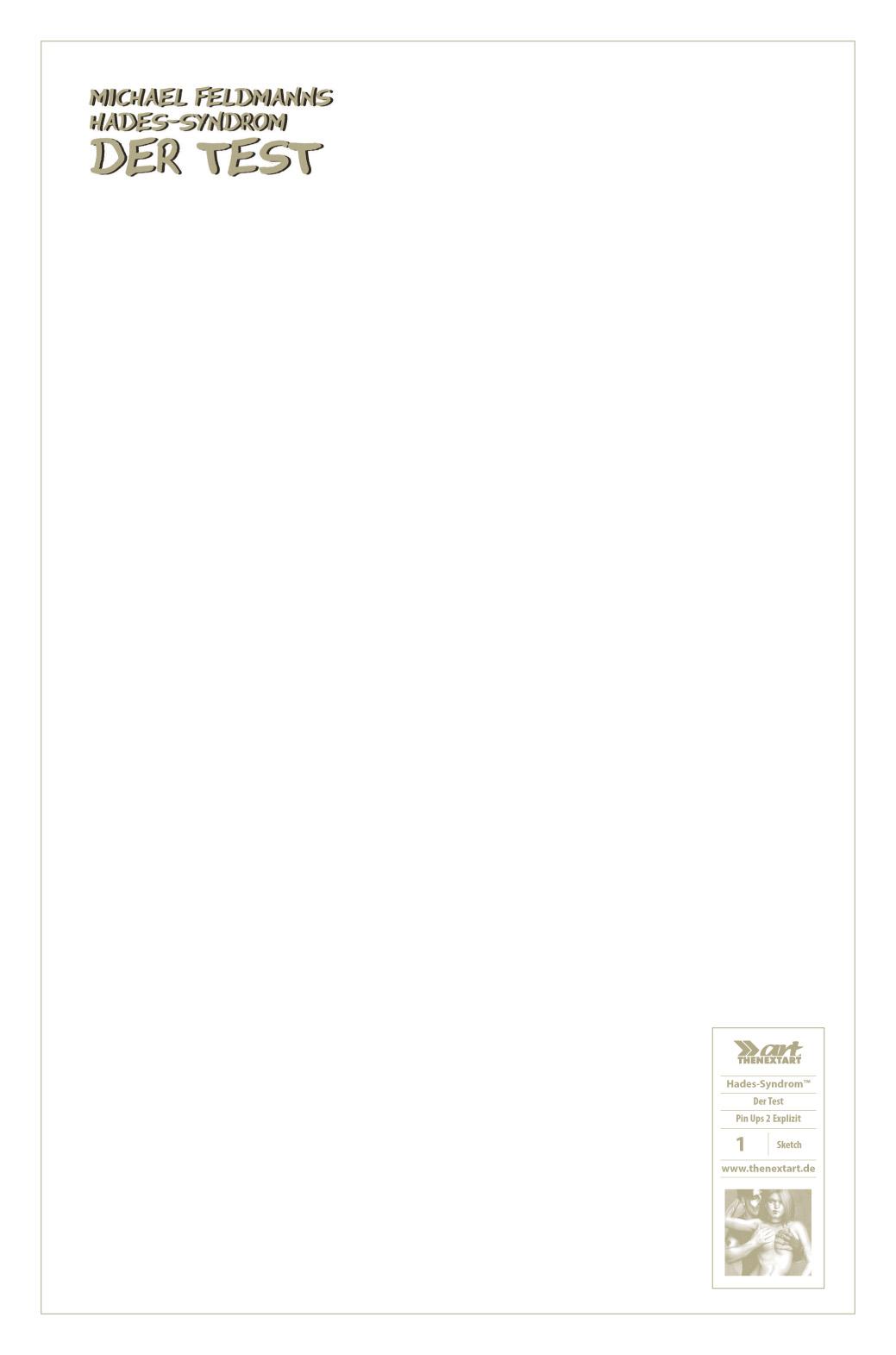 Michael Feldmann Hades-Syndrom – Der Test Blank Sketch Cover
