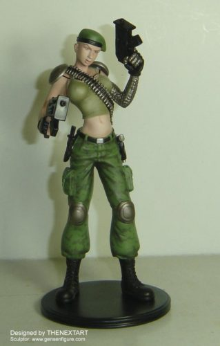 Miniaturstaute Figur Lt Rene Blue Evolution THENEXTART 01