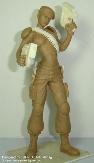 Miniaturstaute Figur Lt Rene Blue Evolution THENEXTART 06