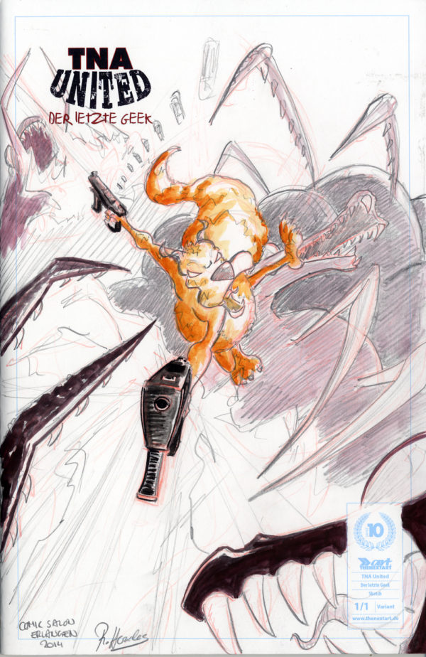 TNA United Der letzte Geek Cover E Sketch Cover Robert Heracles 2