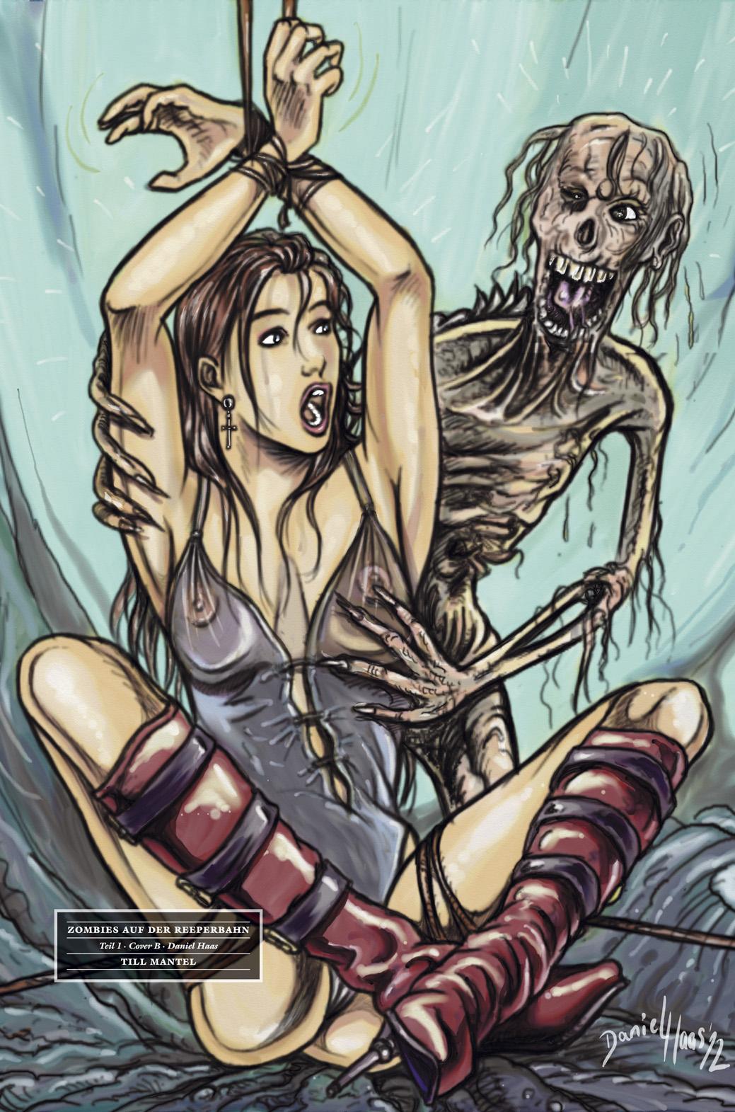 Till Mantel Zombies auf der Reeperbahn 1 Cover B Danile Haas